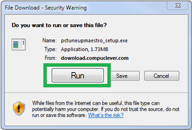 IE File Download box
