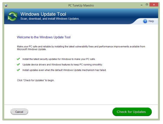 Fix Windows Update Errors With PC TuneUp Maestro