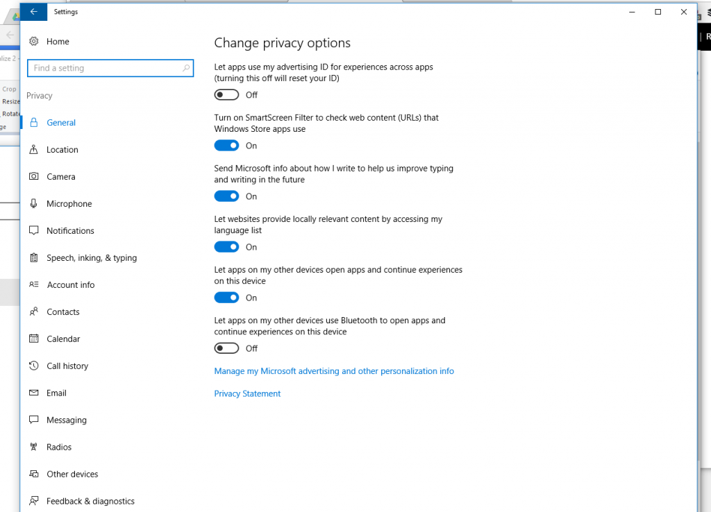 how to increase window 10 privacy