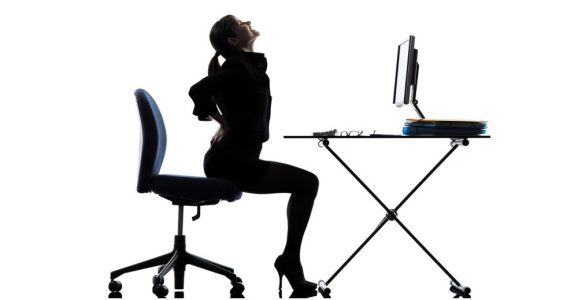 Correct Ergonomics Sitting at a Computer Desk